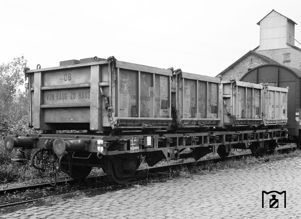 BTms33-Wagen 434054 in Grebenstein. (05.1965) Foto: Reinhard Todt Bildlink: Eisenbahnstiftung Joachim Schmidt