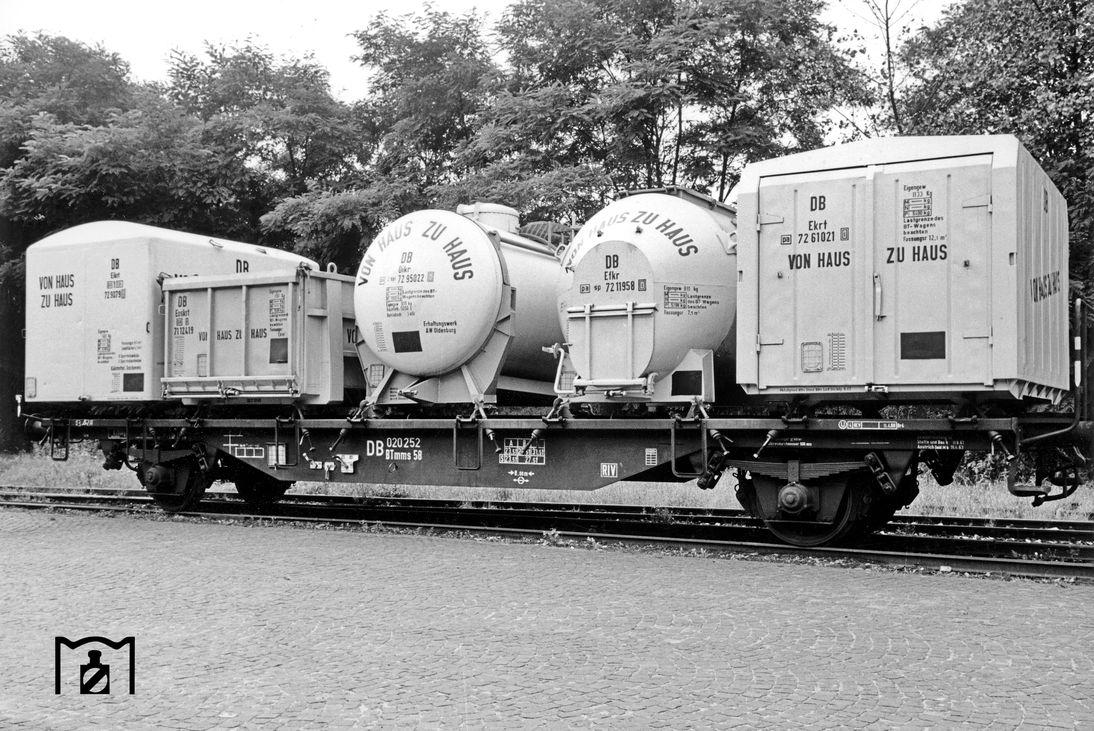 Behältertragwagen der Bauart BTmms58