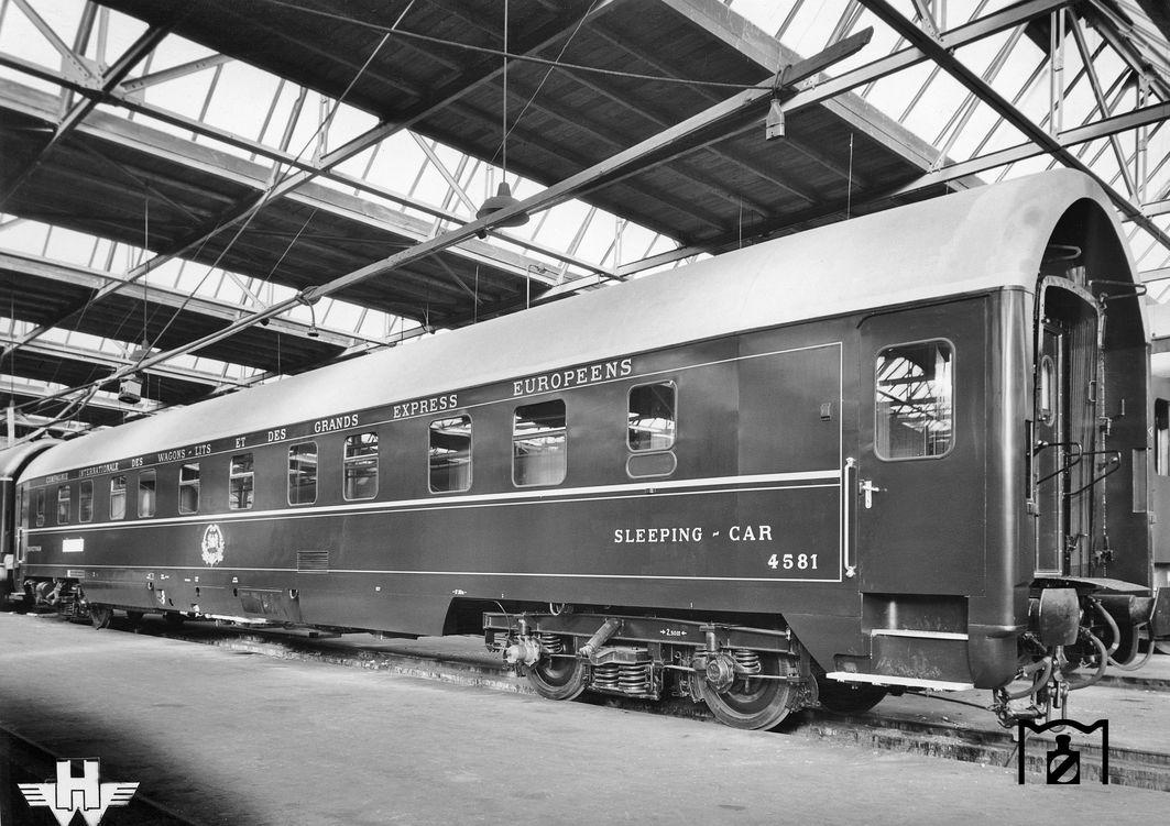 Schlafwagen U Hansa (Werkfoto 1957, Bildlink Eisenbahnstiftung)