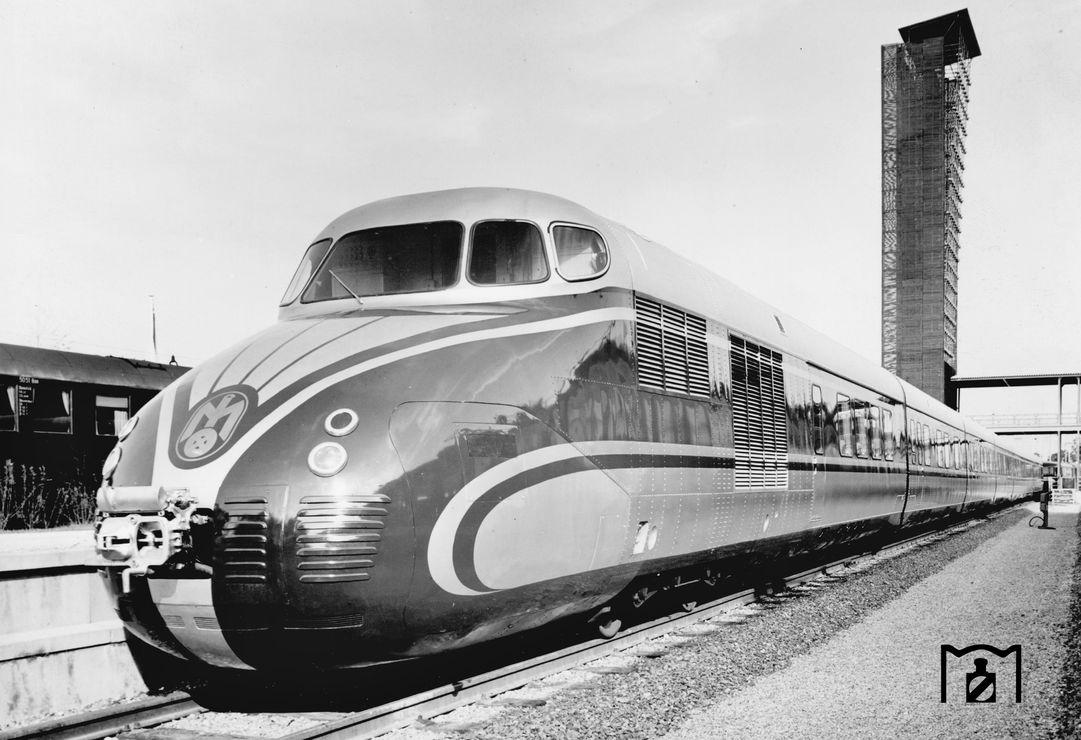 DSG VT 551 IVA 1953, Georg Steidl 1953, Bildlink: Eisenbahnstiftung.de